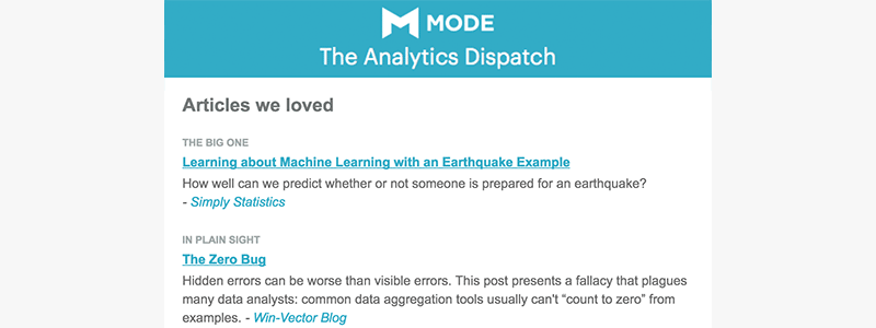 The Analytics Dispatch