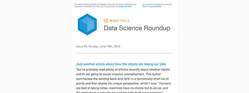 Data Science Roundup