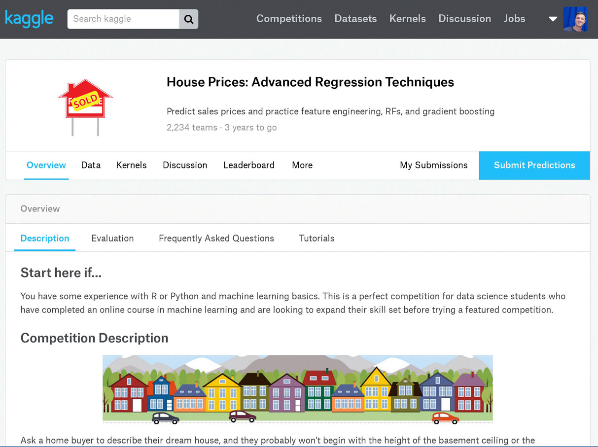 Getting Started With Kaggle House Prices Competition