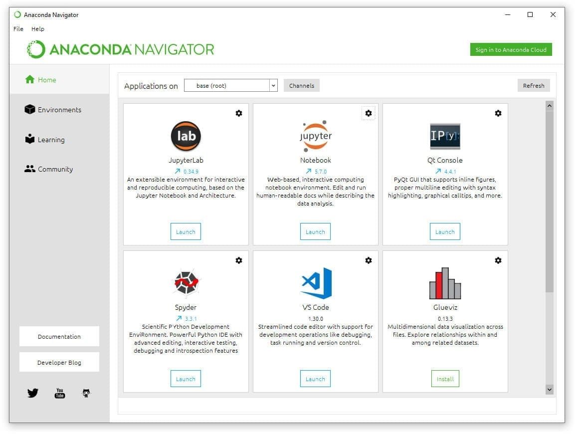 anaconda navigator window
