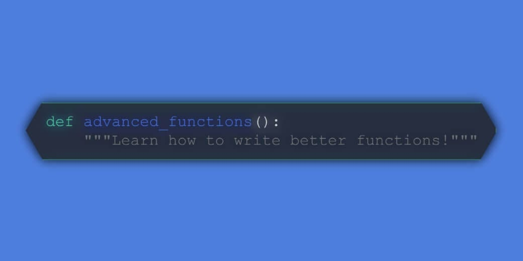 write better functions in python