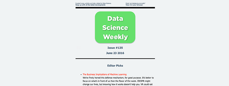 Data Science Weekly